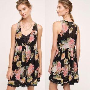 Anthropologie Maeve Floral Violetta Babydoll Dress